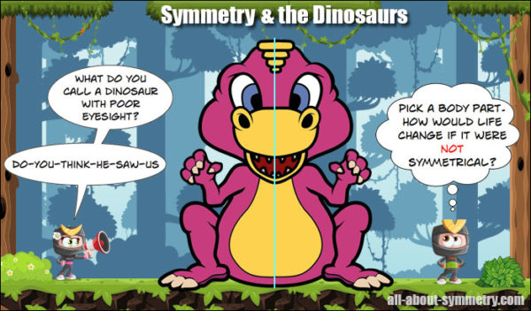 Line of Symmetry Lesson - Dinosaurs